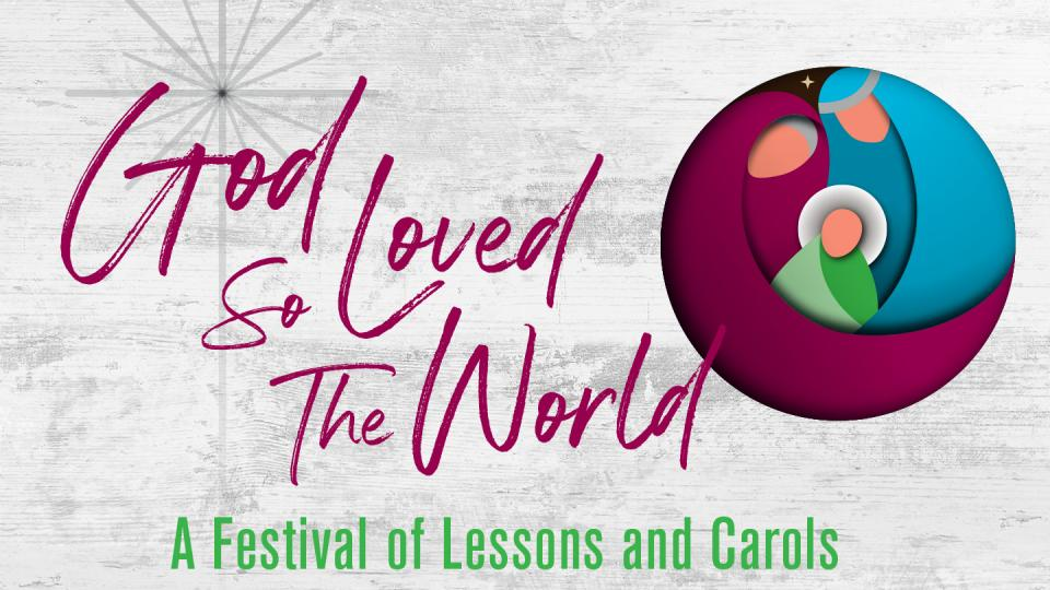 """Graphic for """"God So Loved The World"""" event"""
