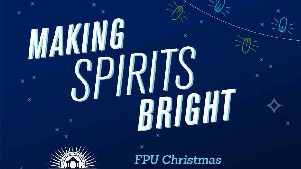 Festive graphic rendering of Making Spirits Bright