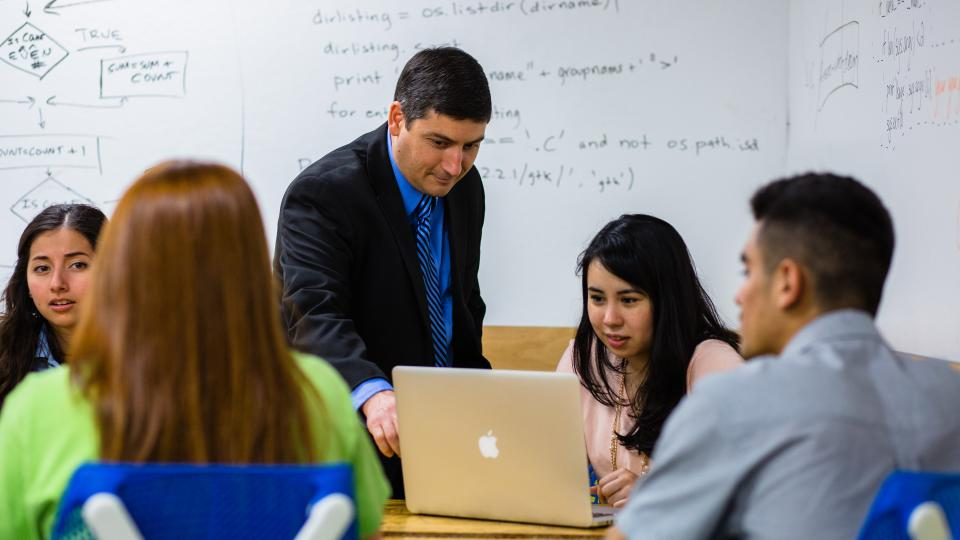 Students learning in class at Fresno Pacific University