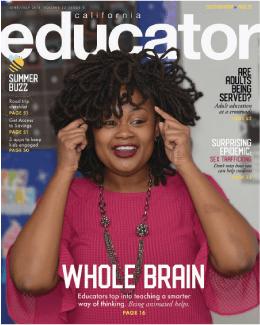 Cover of California Educator featuring Carlanda Williams