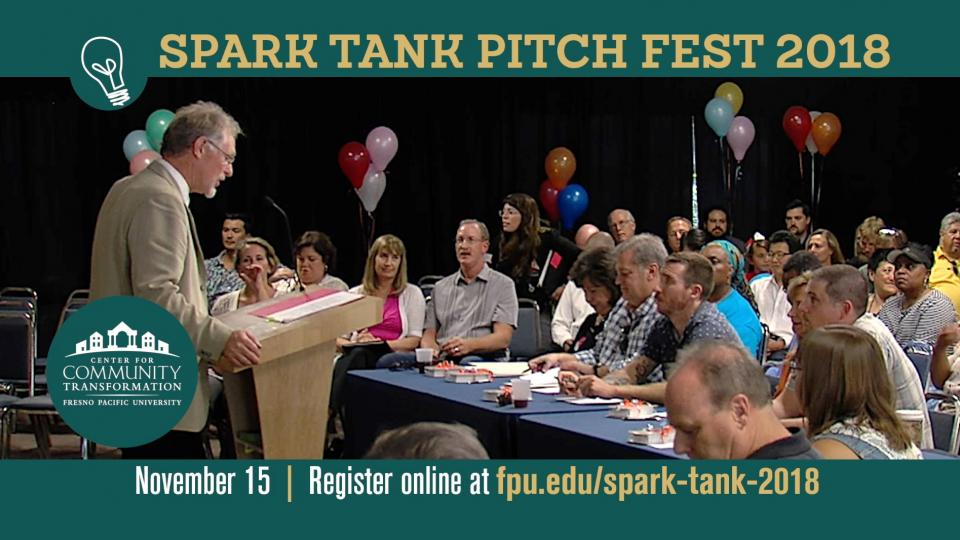 Randy White speaks to participants at the 2017 Spark Tank Pitch Fest