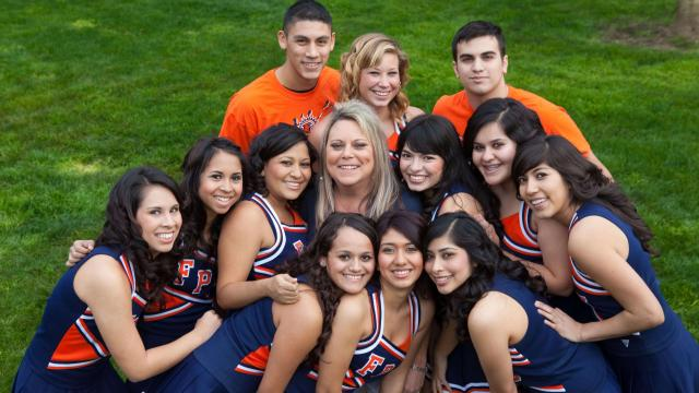 FPU cheer squad group photo
