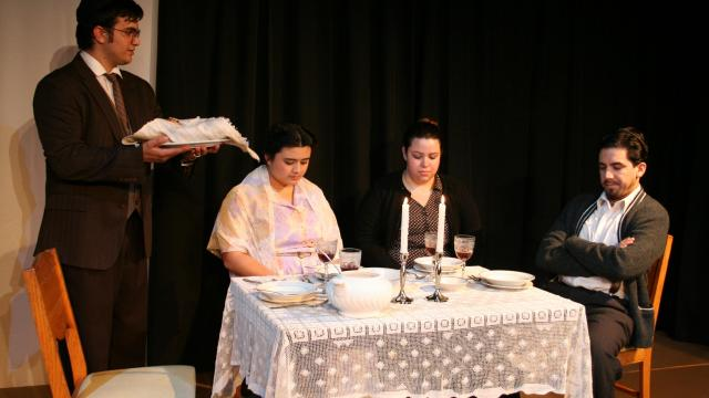 FPU play cast members (from left): Trevor Thomas, Misty Ann Stewart, Breanna Edmonds and Joshua Andrade-Cantú