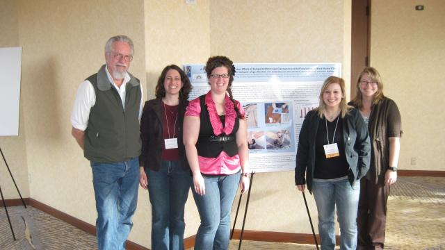 left to right: James Stapleton, Ph.D., researcher at the UC Kearney Agricultural Research and Extension Center; Ruth Dahlquist, FPU faculty; Stacy Betts, FPU grad; and FPU students Kate Hernandez and Dee Ann Kroeker