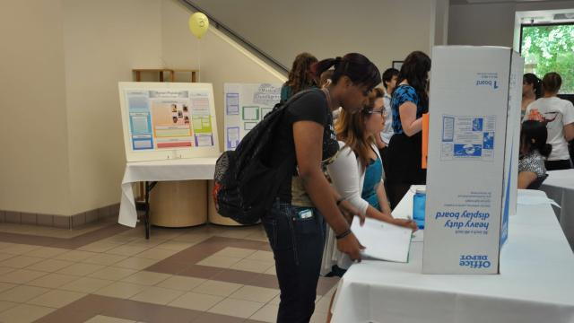 Students show their work at Undergrad Research Day