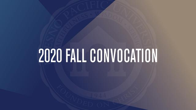 Slide that says 2020 Fall Convocation
