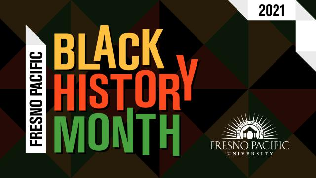 Illustration stating Black History Month and the FPU logo