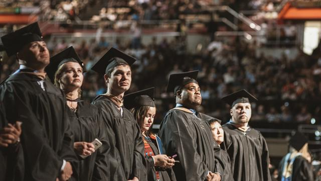 Graduates of Fresno Pacific University at commencement