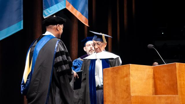 Dr. Marius receives his honorary doctorate