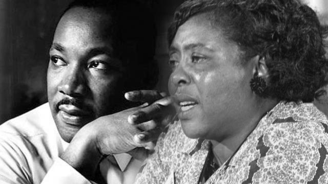 Portriats of Martin Luther King, Jr., and Fannie Lou Hamer