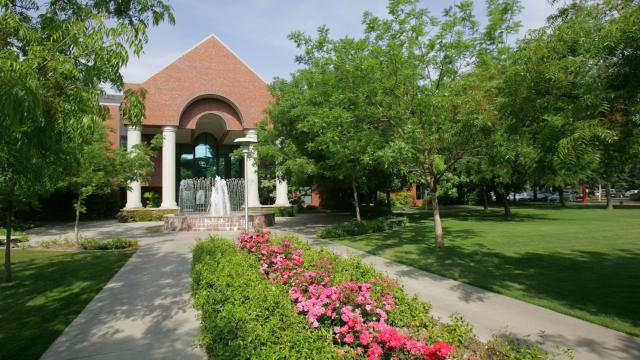 A view of McDonald Hall on the main campus of Fresno Pacific University, 1717 S. Chestnut Ave., Fresno, CA
