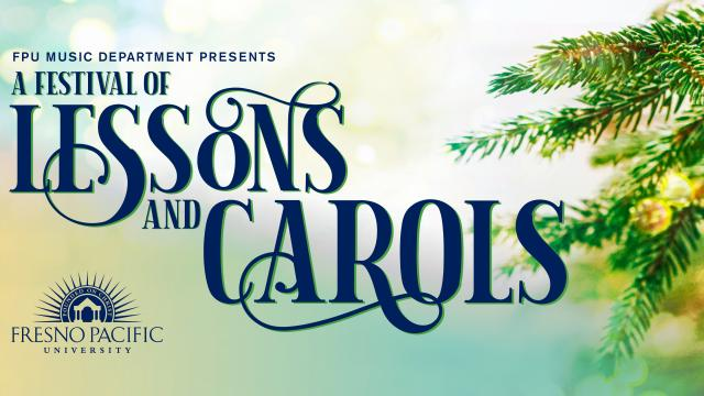 "Image and information on ""Lessons & Carols"" as noted in the copy"