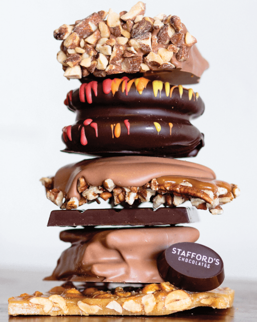 Stack of Stafford's chocolates